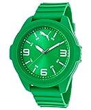Puma Time Game Orologio da Polso, Analogico, Uomo, Cinturino in Plastica, Verde
