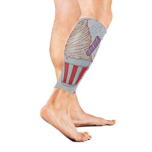 Calf Compression Sleeve for Men & Women, Premium Leg Compression Socks for Shin Splints and Varicose Veins, Elastic Footless Sleeve for Running, Cycling, Travel & Recovery, All Seeing Eye -