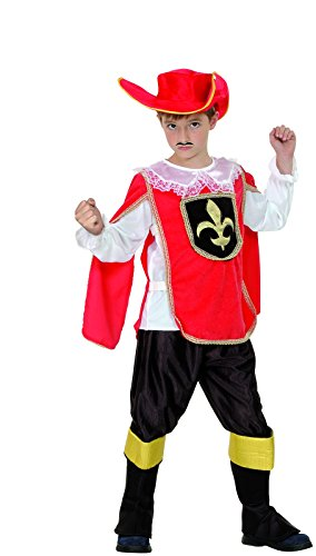 Imagen de reír y confeti  fibmou031  disfraces para niños  disfraz mosquetero poco rojo  boy  talla m