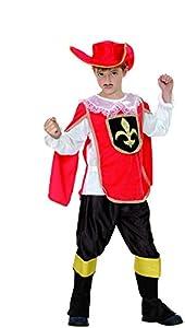 Reír Y Confeti - Ficmou031 - Disfraces para Niños - Disfraz Mosquetero Little Red - Boy - Talla L