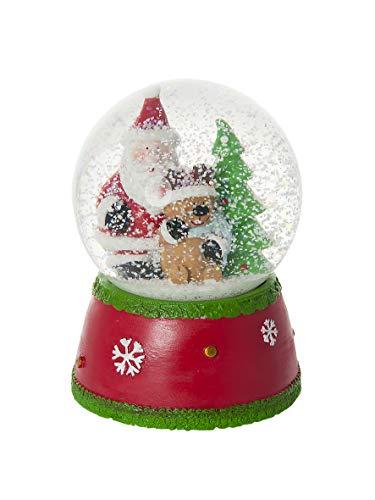 Schneekugel mit Vater Weihnachten Spieluhr