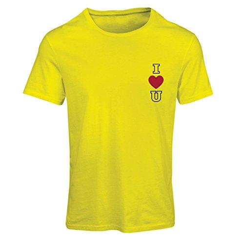 Frauen T-Shirt Ich liebe dich! Ehrfürchtige Geschenk-Ideen - Valentinsgrußtag, Geburtstag, Jahrestag (Small Gelb - In Die Halloween Englisch Bedeutung Von