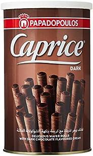 لفائف رول بنكهة الشوكولاتة الداكنة من كابريس، 250 غرام - عبوة من قطعة واحدة