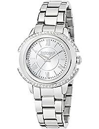 JUST CAVALLI Damen - Armbanduhr DECOR Analog Quarz Edelstahl R7253216504