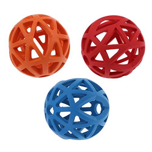 F Fityle 3xPet Puppy Fetch Ball Spielzeug Behandelt Und Kaut Zähne Training Toy Dog Supplies -