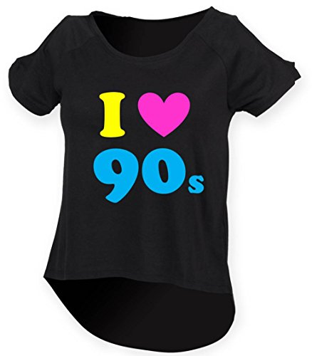 I Love The 90s Ladies Drop Tail Top. Sizes 8 to 18