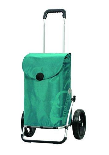 Andersen Shopper Royal 3-Speichenrad mit Tasche Pepe 49 Liter türkis