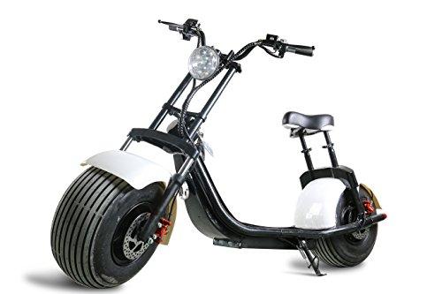 1000W-60V-12/20Ah recargable de litio citycoco eléctrica grasa neumático scooter en Holland almacén blanco, blanco
