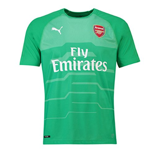 f98f7acb7 Puma 2018-2019 Arsenal Away SS Goalkeeper Football Soccer T-Shirt Maglia  (Green