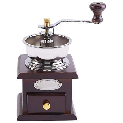 Antike manuelle Kaffeemühle, Retro Design Kaffeebohne Handmühle manuelle Mühle Home Kitchen Office Kaffee Zubehör(Kaffee) (Antike Manuelle Kaffeemühle)
