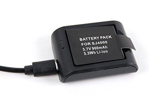 DURAGADGET Ladegerät und Wiederaufladbare Batterie kompatibel mit der ODRVM WiFi Wasserdichten Kamera 2.0 Zoll LCD HD 1080P Helmet Camera/WiFi Unterwasserkamera Wasserdichte 30M HD 1080P