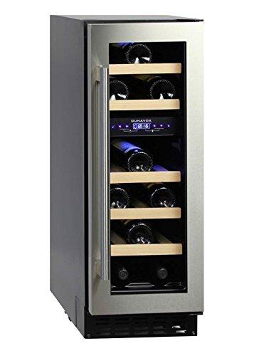 Dunavox - 'DAU-17.57DSS', Weintemperierschrank für 17 Flaschen, 2 Zonen, 5 - 22°C, Einaugerät