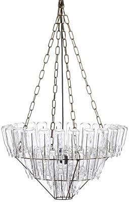 LEITMOTIV LM007 Leuchte Chandelier groß Stahl Glas von Present Time GmbH auf Lampenhans.de