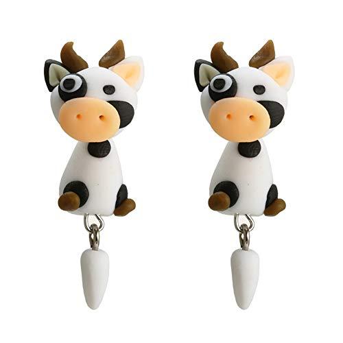 Tresar Ohrringe für Kinder Mädchen Soft Clay Tropfen Geschenk für Mädchen Freundin Kalb 4,5 cm