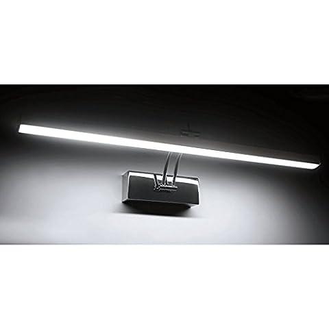 QZz cuarto de baño Luces de espejo de maquillaje a prueba de agua de las luces LED de la niebla ( Color : Blanco , Tamaño : 58cm