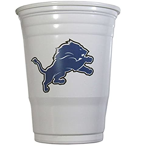 NFL Detroit Lions Game Day Cups, 18-Ounce, White