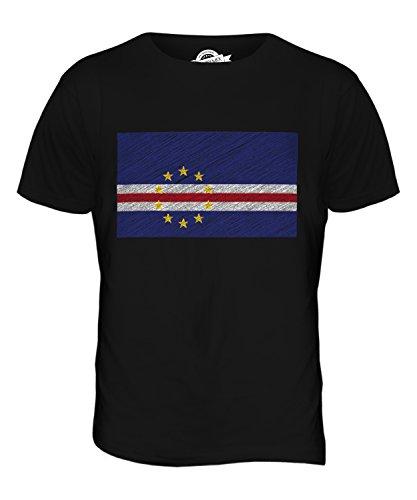 CandyMix Capo Verde Bandiera Scarabocchio T-Shirt da Uomo Maglietta Nero