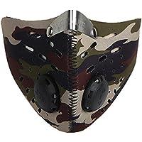SNIIA Máscaras Deportivas, Máscaras Antipolvo para Montar, Máscaras Confort Antivaho De Doble Válvula, Mangas Protectoras para Deportes Al Aire Libre constructive