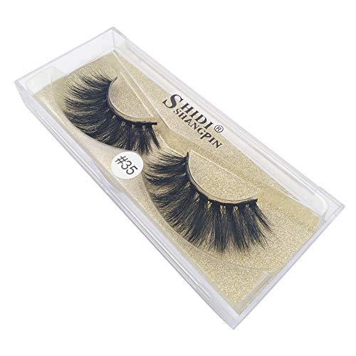 Künstliche Wimpern,Rifuli Echte 3D weiche lange natürliche Wimpern Make-up dicke falsche...