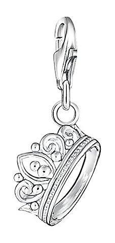 Thomas Sabo Damen-Charm-Anhänger Krone Charm Club 925 Sterling Silber 1011-001-12