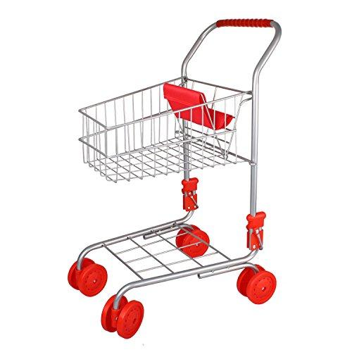 Kinder Einkaufswagen ROSA metall, klappbar zu Kaufladen