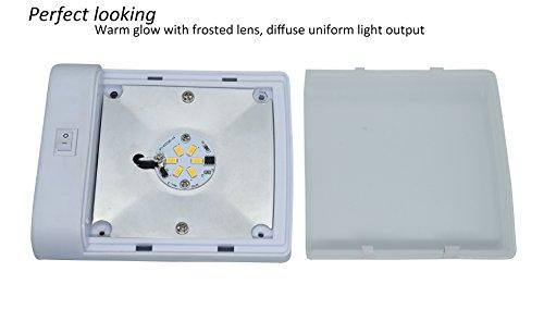 Plafoniera Camper 12v : Facon w plafoniera led v luce auto interni con interruttore per