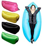 Axxitude Inflatable Nylon Fabric Air Lazy Sofa for Outdoor Camping and Beach(Multicolour)