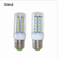 KASY® LED, attacco E14, 5 W, attacco E27, a risparmio energetico, 7W, 9W, 11W 5730SMD ac110 V/13W-Lampadina LED a pannocchia, 220 V, Bianco, e14, 5.0 wattsW