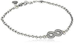 Pandora Damen-Armband Unendlich 925 Silber Zirkonia weiß 18 cm - 590509CZ-18