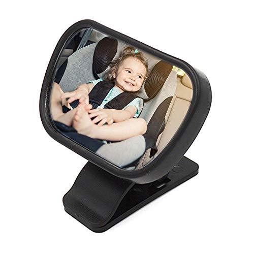 FOONEE Baby-Rücksitzspiegel für Babys, verstellbar, bruchsicher, sicher, mit Saugnapf und Clip