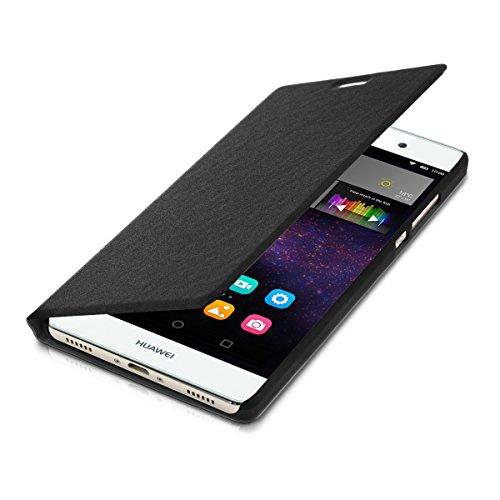 kwmobile Flip Case Hülle für > Huawei P8 Max < - Aufklappbare Schutzhülle Tasche im Flip Cover Style in Schwarz