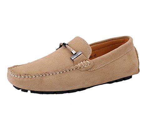 Icegrey Hommes Mocassins Cuir Suedé de Conduite Appartements à Enfiler Loafers Casual Bateau Flâneur Chaussures Kaki