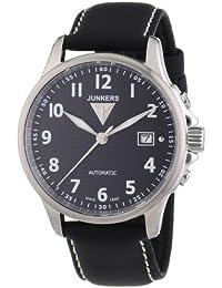 Junkers Herren-Armbanduhr XL Tante Ju Analog Automatik Leder 68602