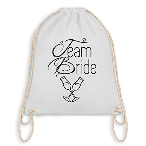 JGA Junggesellinnenabschied - Team Bride Sektgläser - Turnbeutel I Gym Bag Weiß