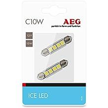 AEG Automotive 97293 LED de alto rendimiento blanco hielo C10W, 12V, set de 2 piezas