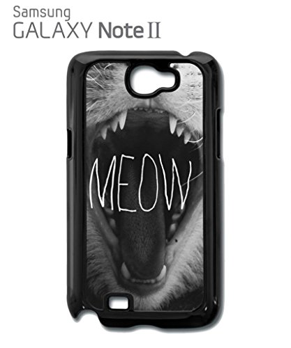 Meow Roar Cat Kitten WTF Cool Funny Hipster Swag Mobile Phone Case Back Cover Hülle Weiß Schwarz Samsung Galaxy S5 White Weiß