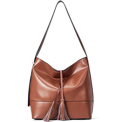 BOSTANTEN Damen Schultertasche Leder Handtasche Umhängetasche Designer Hobos Taschen Groß - Leder Hobo Handtasche