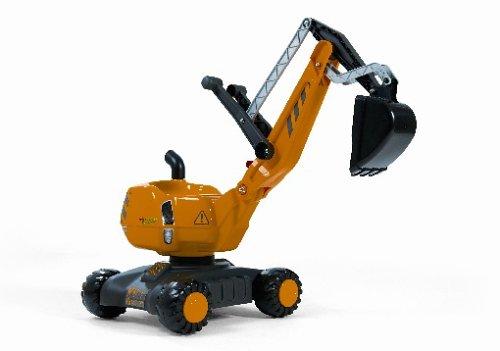 Rolly Toys 421008 Schaufelbagger Digger, voll funktionsfähiger Kunststoff Bagger (geeignet für Kinder von 3 - 5 Jahren; Farbe Gelb/Schwarz)
