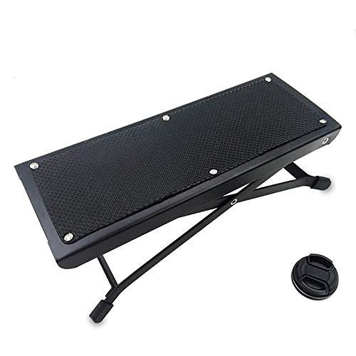 MAATCHH-MIDF Gitarren-Fußstützenhocker Gitarren-Fußknöchel-Gitarren-Pedal, das Klassische Gitarren-Schemel 4 Gang-Justage faltet Rutschfester Fußhocker (Farbe : Schwarz)
