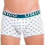 MUNDO ÚNICO Unterwäsche Baumwolle Short Boxershorts Print Calzoncillos para Hombres - Weiß - X-Large