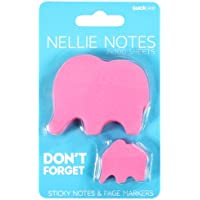 SUCK UK Animal Sticky Notes and Page Markers - Pink Elephant