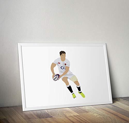 Owen Farrell inspirierte Poster - Zitat - Alternative Sport/Rugby Prints in verschiedenen Größen (Rahmen nicht im Lieferumfang enthalten) (Sport Rugby)