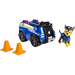 Spin Master Paw Patrol – Chase y su Camión Policía – Vehículo y Figura La Patrulla Canina