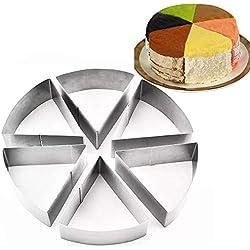 TAMUME Moules à Gâteaux en Acier Inoxydable pour Moules à Forme Spécifique - Ensemble de 3 Moules à Pâtisserie (Coupe Rondes)