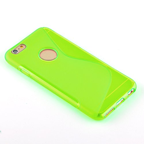 JAMMYLIZARD | Coque iPhone 6 6s, coque GEL silicone souple invisible, Rouge VERT