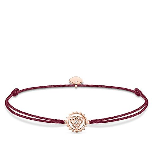 Thomas Sabo Damen-Armband Little Secret Chakra 925 Sterling Silber rosé vergoldet Rot LS034-898-10-L20v