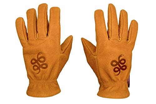 THROTTLESNAKE Motorradhandschuhe Cognac Braun Büffel Vintage Oldschool Lederhandschuhe ROAD ROAMER † Brown Motorcycle Buffalo Leather Classic Badass Gloves (M, Camel) -