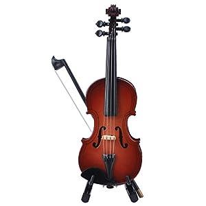 Miniatura violino con supporto in legno, mini chitarra elettrica dell' arco e custodia mini st...
