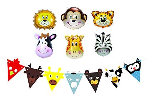 Globos-de-Cumpleaos-Detalles-de-Fiesta-y-Decoraciones-para-Fiestas-de-Cumpleaos-Infantiles–Globo-de-Animales-de-Granja-y-Guirnalda–Suministros-de-Fiestas-de-Cumpleaos-Jungla-Safari-y-Zoo