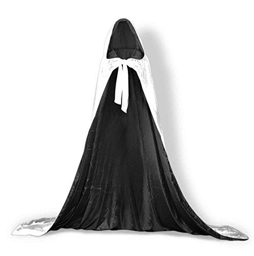 Kapuzen Umhänge SAMT Mittelalter Kostüme Cosplay Hochzeit Kap Robe Langes Brautkleid Wickeln Weiß Warm für den Winter ()